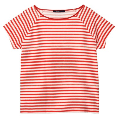 T-Shirt Handprinted Striped Tee GANT