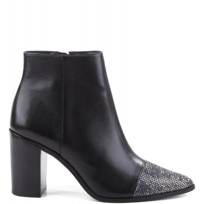 BOTA POINTED CRISTAIS BLACK