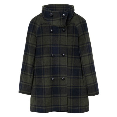 Casaco Checked Wool