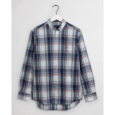 Camisa xadrez índigo lavada Regular Fit Tech Prep ™