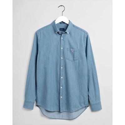 Camisa índigo Regular Fit