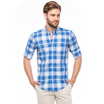Camisa L. Ber Air Poplin Check GANT