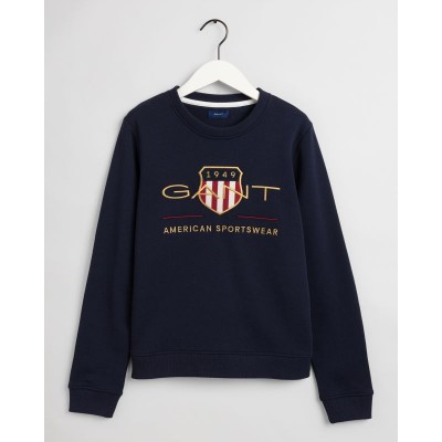 SWEATSHIRT COM DECOTE REDONDO ARCHIVE SHIELD