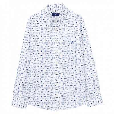 Camisa Nautical Mix Print