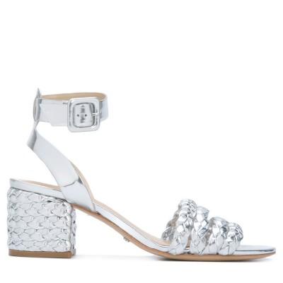 Sandálias Block Heels Silver