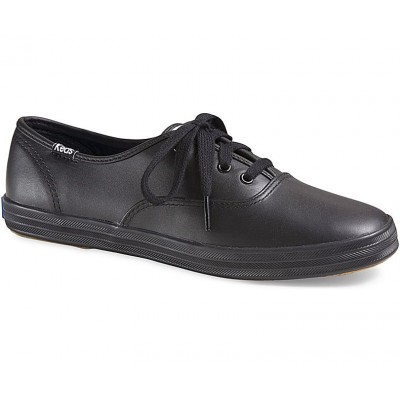 Champion Black Leather KEDS